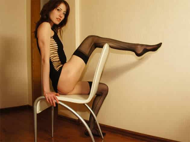 Nylon Braut beim Online Sex Chat